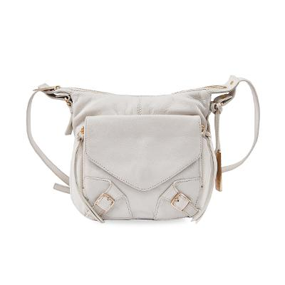 buckle detail shoulder bag white